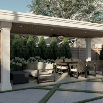 landscape design and build for backyard patio