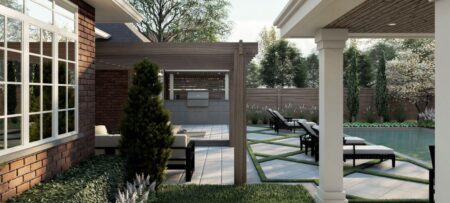 cabana and pegola landscape design