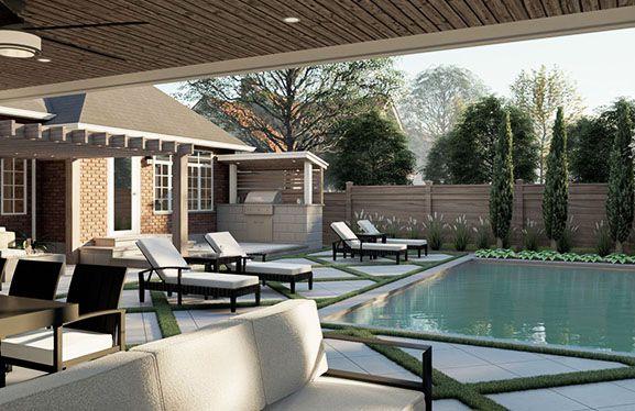 landscape design 3d render