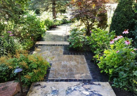 softscaping project for patio walkway
